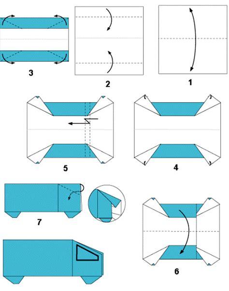 cara membuat origami kereta gambar origami transportasi darat membuat mobil bus truk