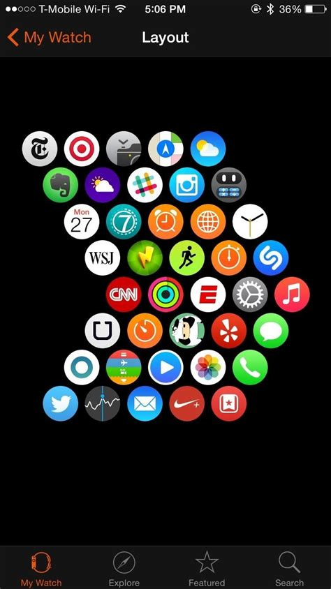 app layout apple watch how to change the layout of apps on your apple watch 171 ios