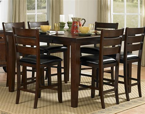 bar height dining room sets homelegance ameillia 5pc counter height dining room set