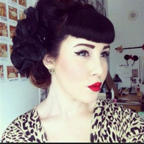 1950 hair styles with bangs lovely simplicities hair today 1950s rockabilly pinup