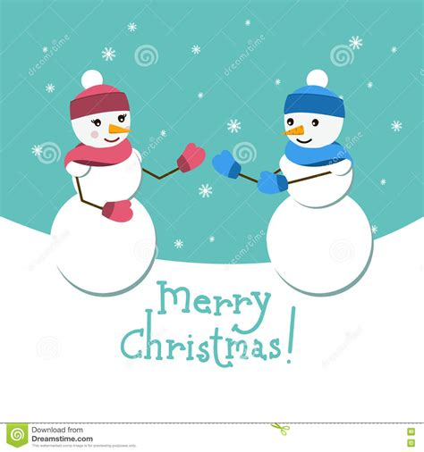 gf crismax imeg snowman and his vector card with merry lettering stock vector image