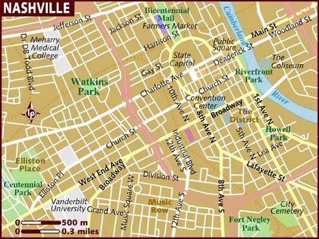 usa map nashville map of nashville