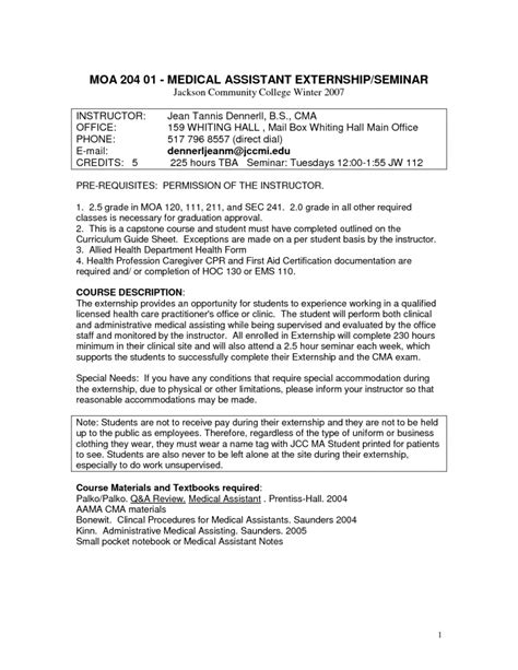 entry level medical assistant resume template high free