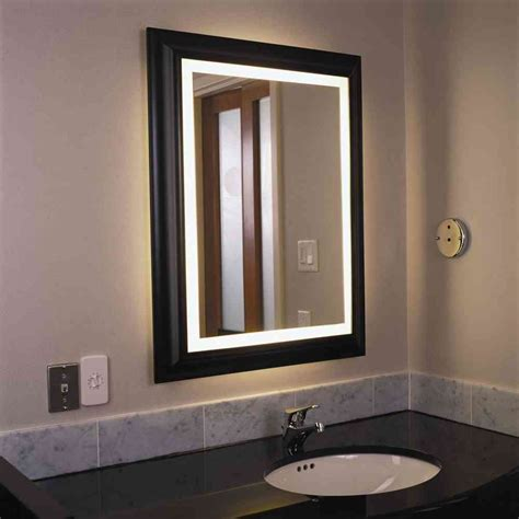Lighted Mirrors For Bathrooms Modern by Lighted Bathroom Wall Mirror Decor Ideasdecor Ideas