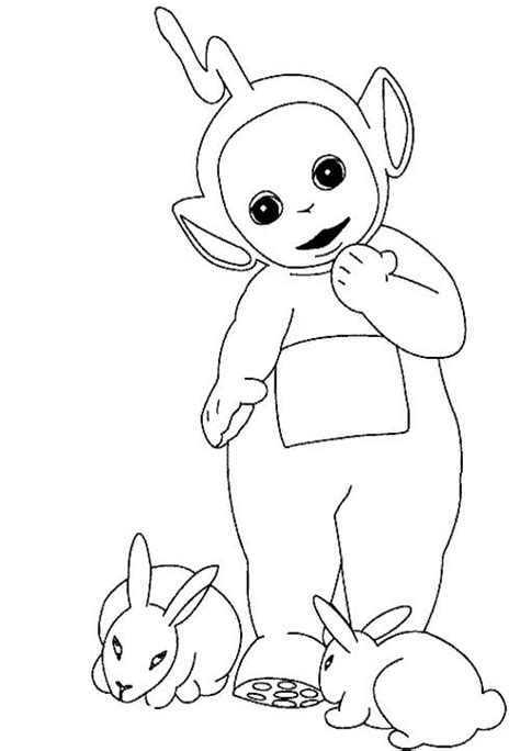 Teletubbies Coloring Pages by Coloring Teletubbies Laa Laa Coloring Pages