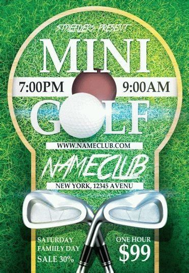 Mini Golf Psd Flyer Template 6723 Styleflyers Mini Flyer Template