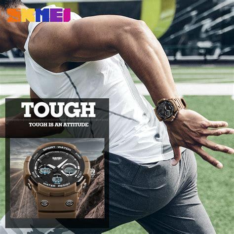 Jam Tangan Pria Skmei Analog Digital 1247 Wr50m skmei jam tangan digital analog pria ad1247 black jakartanotebook