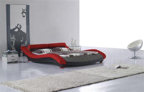 wave platform bed wave king size modern design black leather platform bed