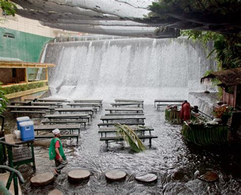 villa escudero waterfalls restaurant amazing water fall restaurant in san pablo philippines