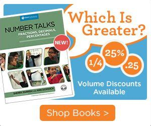 number talks fractions decimals and percentages sherry parrish math solutions