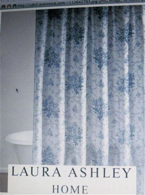 laura ashley shower curtains sophia blue toile roses floral laura ashley fabric shower curtain nip beautiful