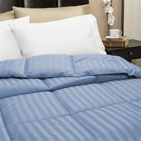 light blue comforter twin blue ridge home fashions damask stripe down alternative