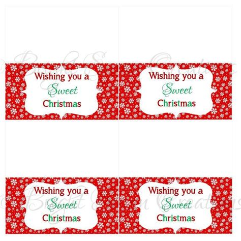 printable christmas treat bag toppers instant download christmas treat bag topper print all