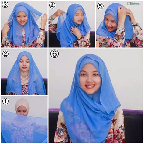 tutorial hijab paris bisikan com tutorial hijab paris segiempat simple 7