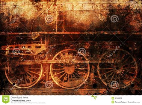 rusty train rusty train industrial steam punk background stock image