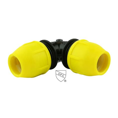 home flex 1 in underground yellow poly gas pipe 90 degree