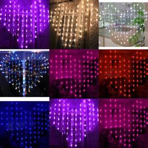 Outdoor Curtain Lights 3mx3m 300 Led Outdoor Indoor Wedding Lights Curtain Lights Ebay