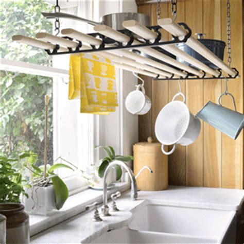 Hanging Heavy Objects From Ceiling by Pulleymaid Hanging Static Flat Rack Clothes Airer