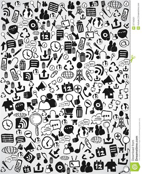 background design doodle doodle web icon background stock vector image of hand