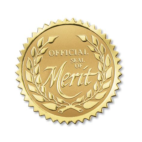 Seal Klep Per High Quality seal of merit foil seals for employee certificates and awards