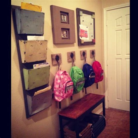 ideas for hanging backpacks school wall for kids shoes backpacks papers magnet