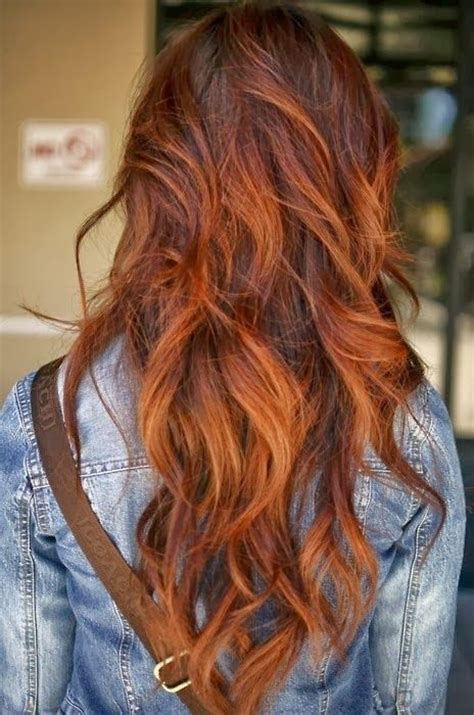 auburn with ombre highlights auburn ombre hair google search skin hair nails
