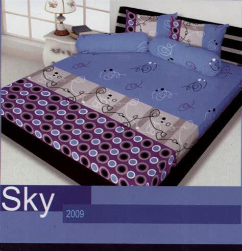 Harga Sprei Merk Illusions sprei california sky by my toko bed cover