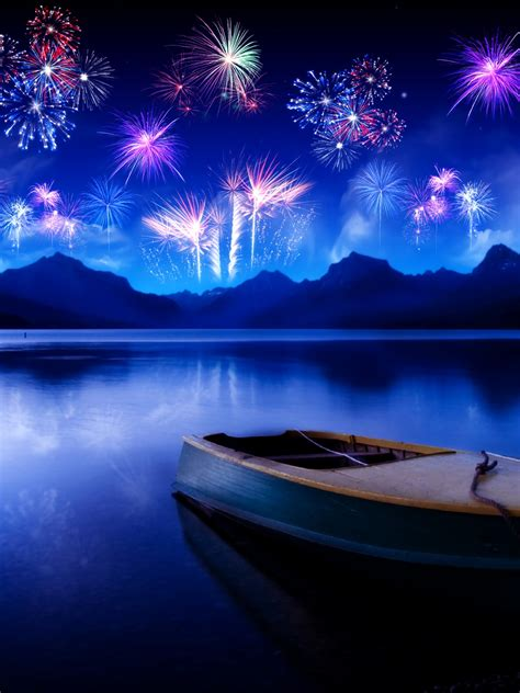 wallpaper  year fireworks reflections hd celebrations  wallpaper  iphone