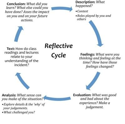 unit 2 what is gibb s cycle of reflection knilt