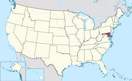 where is maryland on the united states map map of the united states with maryland highlighted