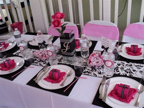 Pink And White Baby Shower Decorations by Pink Black And White Baby Shower Ideas