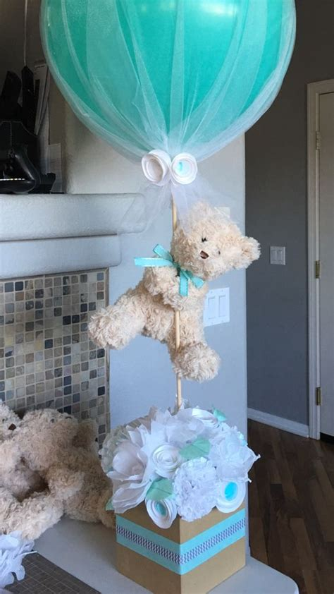 Baby Shower Centerpiece For Boy by Picture Of Teddy Centerpiece For A Boy Baby Shower