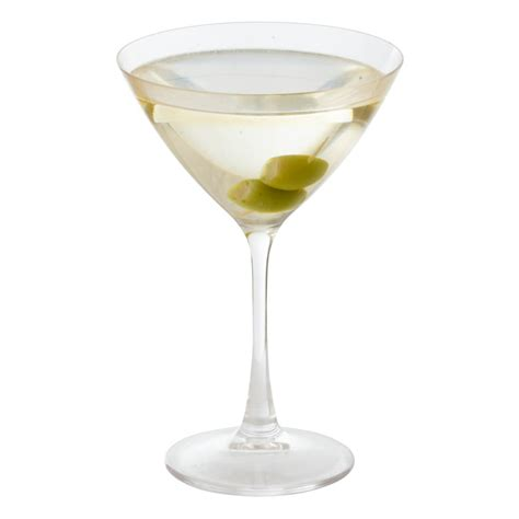 martini glass acrylic martini with olives in acrylic glass