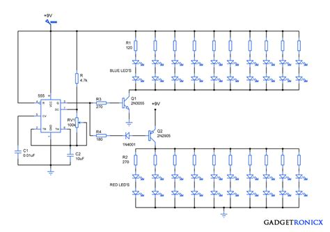 attractive led lighting circuit diagram gadgetronicx