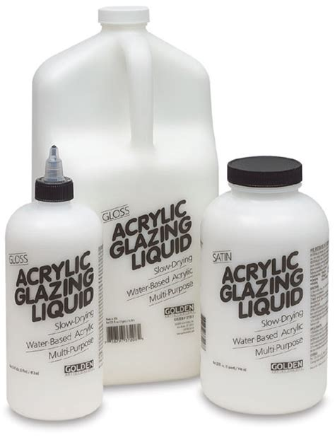 acrylic paint glaze golden acrylic glazing liquid blick materials