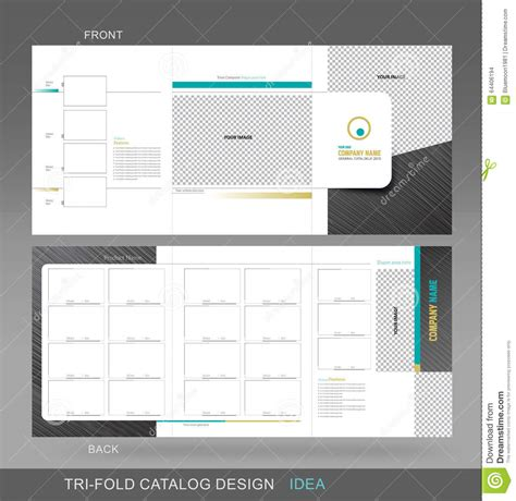 professional handout template professional trifold catalogue concept stock illustration