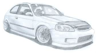 honda civic ek hatch by danchix on deviantart