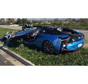 In What Can Only Be Described As A Freak Accident BMW I8 Was Rolled