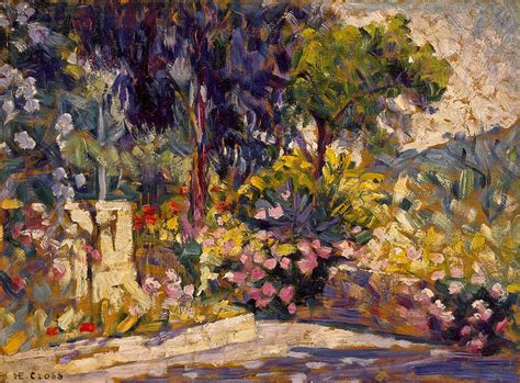 Flowered Duvet Covers The Flowered Terrace Painting By Henri Edmond Cross