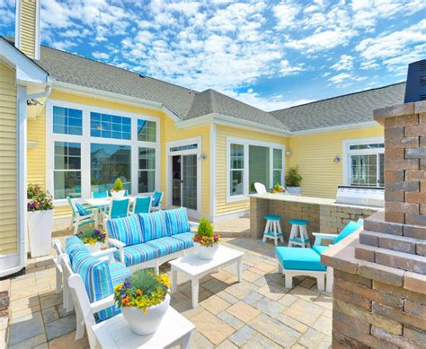 patio furniture lay outs cheerful cottage with turquoise color scheme home