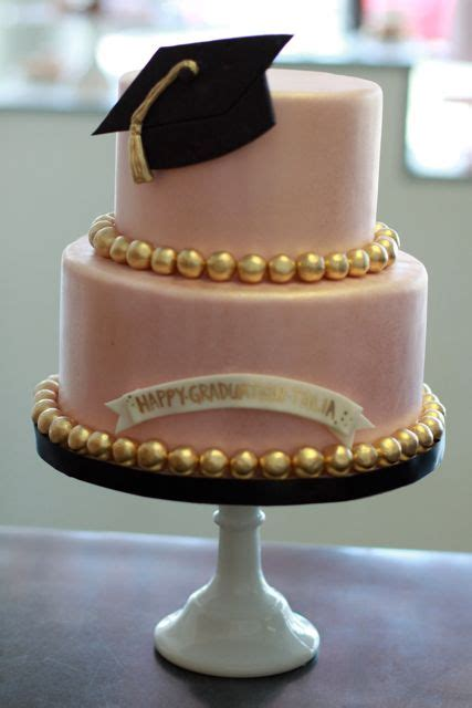 Cake If Rd With Mba by Gorgeous Graduation Cake In Real With The Gold Accents
