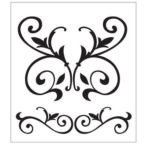 Folkart Scroll Painting Stencils 30594 The Home Depot Stencil Templates For Painting