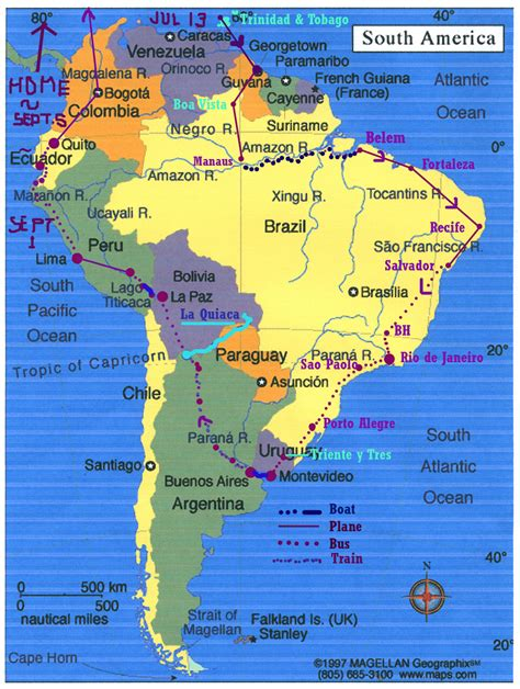 south america tourist attractions map south america trip 1967 mightyturk