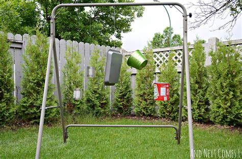 the swing station diy recycled outdoor music station and next comes l