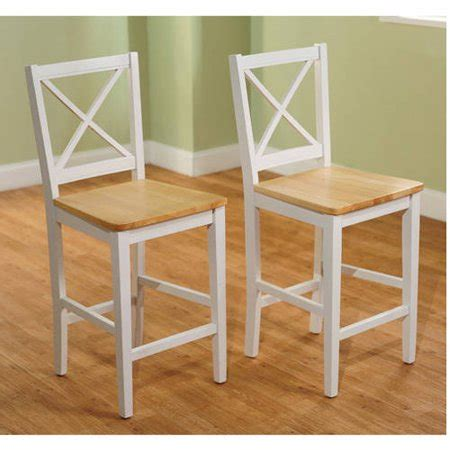 Virginia Cross Back Stool 24 Set Of 2 Espresso by Virginia Cross Back 24 Quot Stool Set Of 2 White