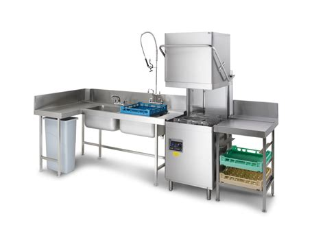 sle layout of commercial kitchen commercial dishwasher and dishwash tabling cocinas
