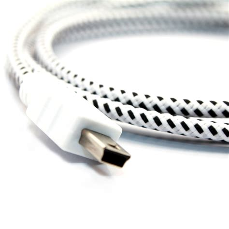 White Stripes On Usb by Mini Usb Collective Cable Cross Stripe Blue Yelllow
