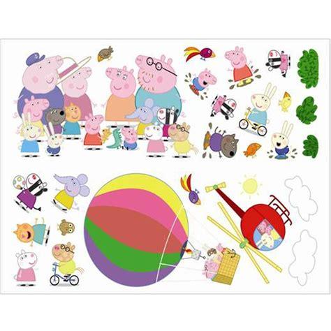 stikarounds wall stickers fun4walls peppa pig air balloon wall stickers