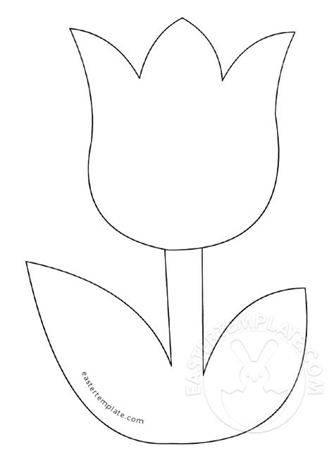 simple tulip clipart easter template