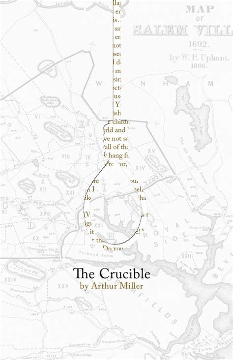 themes of the story crucible the crucible poster print nice advertising and the map